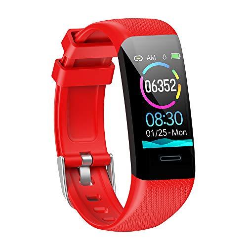 MMTek Fit Pro 2,  Smartwatch Reloj Inteligente Mujer Hombre Niños Impermeable IP67 Pulsera Actividad con Pulsómetro Podómetro Monitor de Sueño Presión Arterial Calorías Smart Watch Men Women (Rojo)