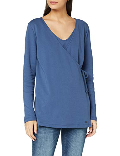 Esprit T-Shirt Nursing LS Camiseta, Cinder Blue/406, XXL para Mujer