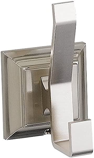 Designers Impressions 400 Series Satin Nickel Double Robe Hook