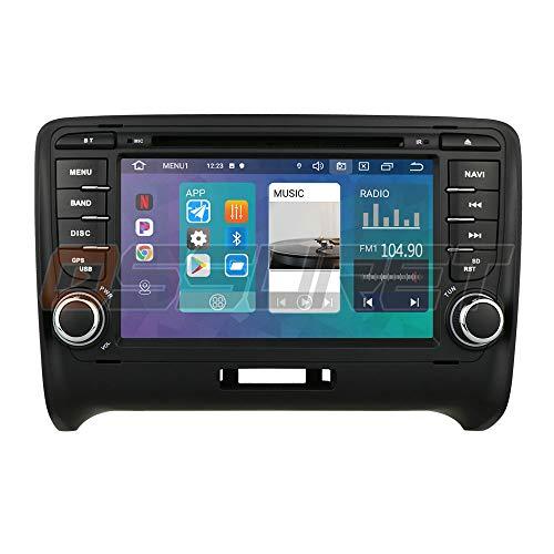 Radio stereo per auto Android 10 di Ossuret con touchscreen da 7 pollici adatto per Audi TT MK2 2006-2014 + TV digitale opzionale DVR OBD2 DAB + supporto controllo volante