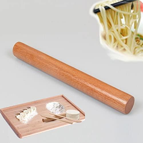 PPuujia Rodillo de cocina de madera maciza multifuncional rodillo de masa portátil para fondant (color: 25 x 2,6 cm)