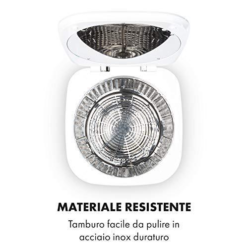 KLARSTEIN Zap Dry - Asciugatrice, 820 W, Capacità: 50 L, Design UniqueDry, Salvaspazio, Cestello in Acciaio Inox, Alloggiamento in Plastica, Pannello di Controllo Touch, Display LED, Verde