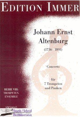 ALTENBURG/Immer Johann Ernst Konzert für 7 Trompeten und Pauken