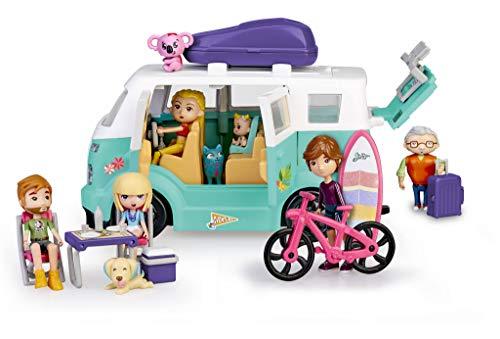 Mymy City- Family Van, Caravana con Accesorios niñas a Part