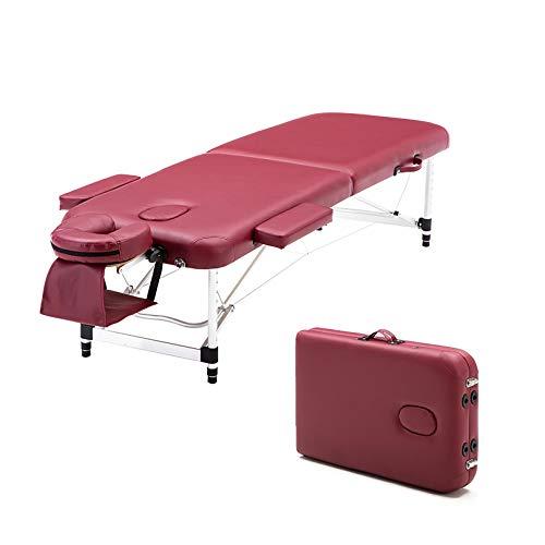 MGW Lit de Spa de Table de Massage Portable avec Support de Bras d'appui-tête réglable en Hauteur