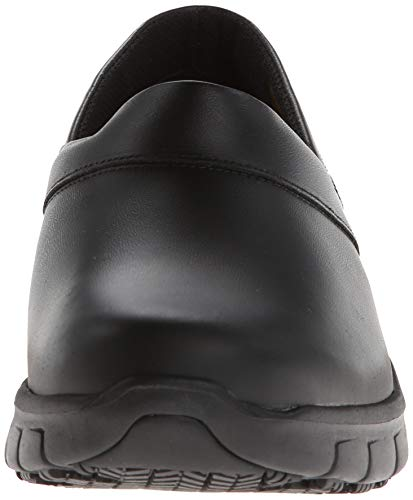 Skechers for Work Women's Relaxed Fit Slip Resistant Work Shoe, Black, 8 M US