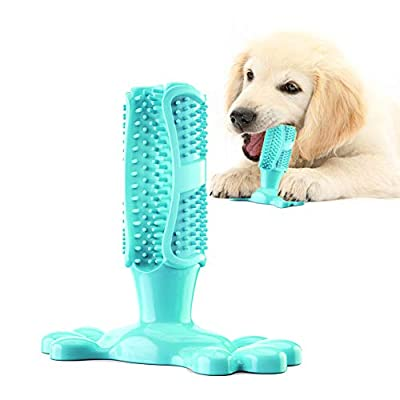 Dog Chew Toys Indestructible Dog Toothbrush Tough Aggressive Chewers for Medium Small Dogs Puppy Dogs Dental Care Brushing Effective Doggy Teeth Cleaning