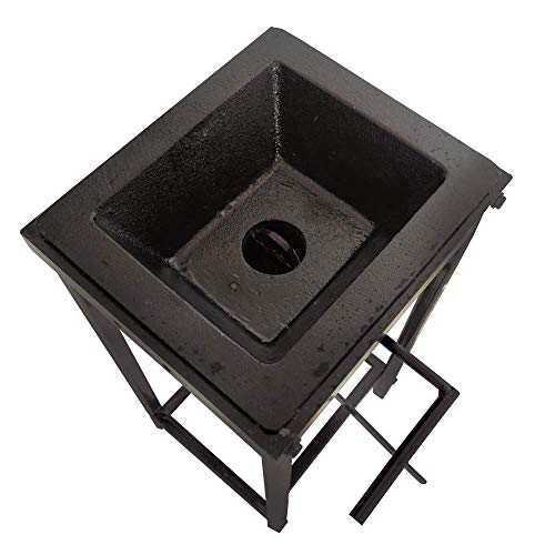 Blacksmith's Welded Coal Firepot with Stand Blacksmith Coal Forge 10x12 inch