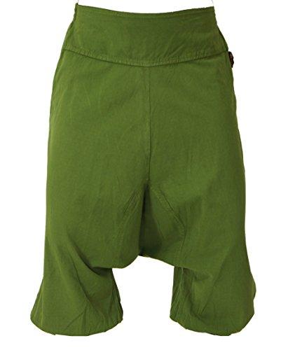 Guru-Shop, Aladdin Broek, Harembroek, Korte Broek - Olijfgroen, Katoen, Size:M (12), Shorts en 3/4 Broeken, Leggings