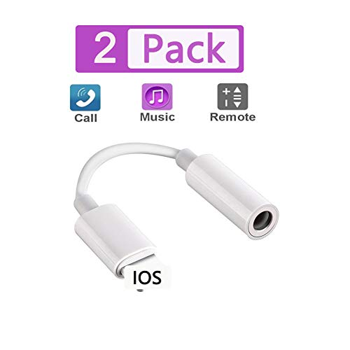 [MFi Certified] BOLIU-U Lightning to 3.5mm Earbuds Jack Adapter Aux Cable Earphones/Headphone Converter Accessories Compatible with iPhone11/Xs MAX/XR/X/8/8Plus/ipad/iPod Support iOS13/12/11(White)