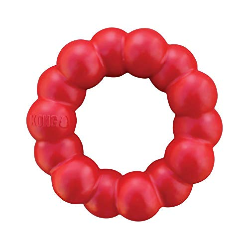 KONG - Ring - Durable Rubber Dog Chew Toy - for Small/Medium Dogs