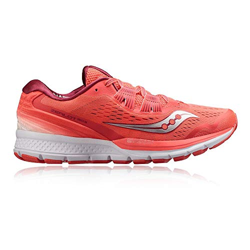 Saucony Women Zealot ISO 3 Neutral Running Shoe Running Shoes Coral - Silver 5