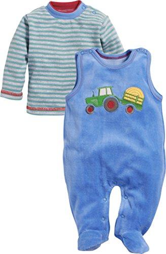 Schnizler Schnizler Baby-Jungen Set Nicki 2-teilig Traktor Strampler, Blau (Blau 7), 68