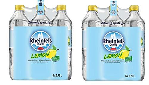 12 Flaschen Rheinfels Quelle Mineralwasser Lemon a 750ml EINWEG Pfand