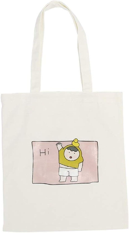 YHUJH Home Simple Light File Shopping Reise-Handtasche Umhängetasche Frau Hallo Kind Canvas Umhängetasche (Weiß) B07L898KLF  Nutzen Sie Materialien voll aus