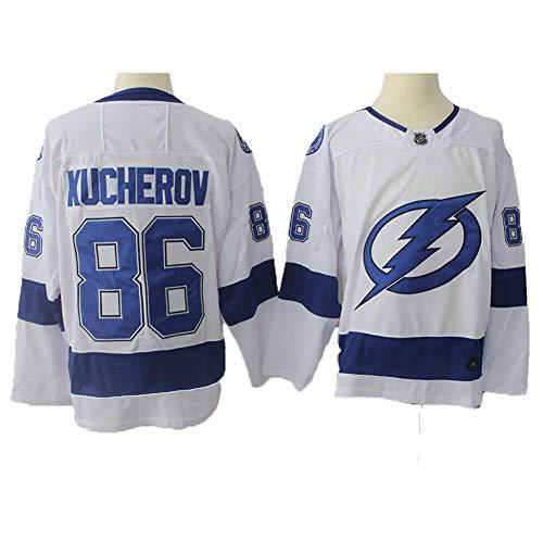 Yajun Nikita Kucherov#86 Tampa Bay Lightning Eishockey Trikots Jersey NHL Herren Sweatshirts Atmungsaktiv T-Shirt Bekleidung,White,3XL