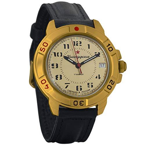 Vostok Komandirskie 2414 Reloj Militar Ruso mecánico de Cuerda Manual // 439121 (Classic)