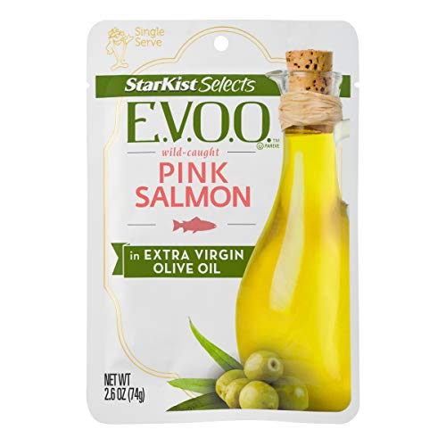 StarKist E.V.O.O. Wild-Caught Pink Salmon, 2.6 Oz, Pack of 12