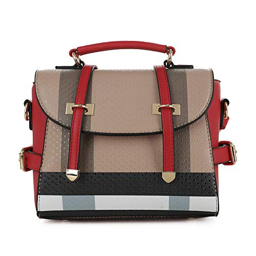 STYLISH & FUNCTIONAL: This stylish small size crossbody purse features adjustable long shoulder strap. There are 3 different ways to wear this bag: top handle, cross body bag or you can make it into a mini backpack. The bag has flip over flap with tw...