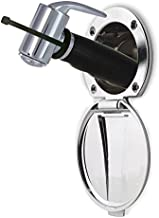 Ambassador Marine Plastic Lid/Cup Recessed Shower Kit with Hammer-Head Black Sprayer and 6-Feet Stainless Steel Hose, Chrome