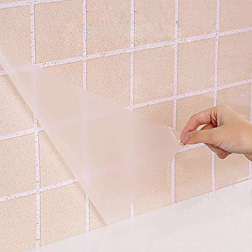 Clear Glossy Self Adhesive Film Covering Removable Protective Film Contact Paper Shelf Drawer Liner Transfer Tape Roll 17.7