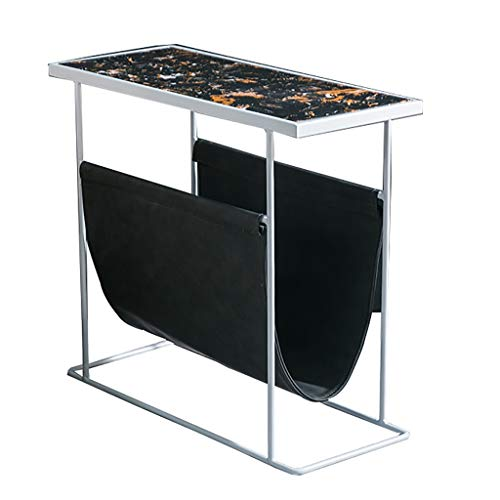 NGQDHR Sofa côté Salon marbre Coin Fer forgé Petite Table Table de Chevet Table de Chevet Mini (Couleur : C)