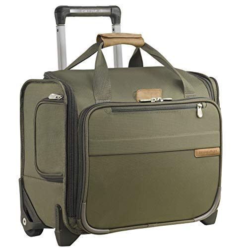 Briggs & Riley Baseline-Softside Rolling Cabin Upright Bag, Olive, Underseater 16-Inch