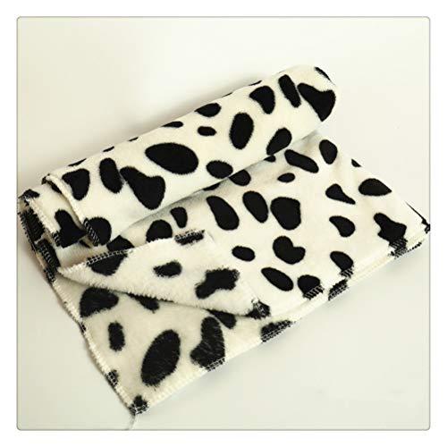 HDDFG Bonita y cálida alfombra de cama para mascotas, cubierta grande, estampado de pata de toalla, gato, perro, lana de Coral, manta suave, suministros para mascotas de invierno para cachorros, 100x8
