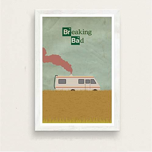 meilishop Stampa su Tela Quadro Senza Cornice Breaking Bad Movie Poster su Tela Bar Cafe Soggiorno in Casa Decor Pittura per Pareti Arte B63 (50X70Cm) Senza Cornice