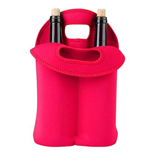 Pisamhid Botellas de vino portátil, bolsa para botellas de vino, agua, champán, cerveza, biberones