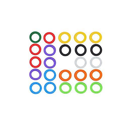 Aofocy Schlüsselkappen aus PVC, 24 Stück 2