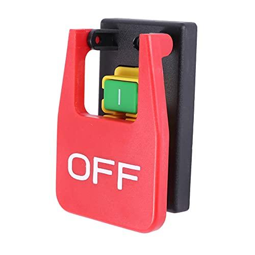 Viudecce Interruptor de Pulsador de Parada de Emergencia de Cubierta Roja Apagado-Encendido 16A Interruptor de Arranque Electromagnético de Protección de Apagado/Subtensión