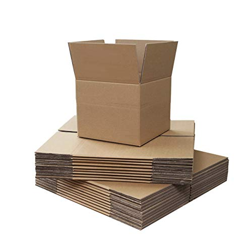 Small Single Wall Shipping Mailing Postal Gift Cuboid Cardboard Cartons Boxes Royal Mail Small Parcel Fit8x6x4' (203x152x102mm) (5 Boxes)
