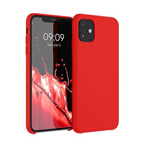 kwmobile Hülle kompatibel mit Apple iPhone 11 - Hülle Silikon gummiert - Handyhülle - Handy Hülle in Rot