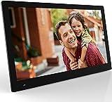 Nix Advance - Cadre Photo numérique 17,3 Pouces écran Large, Angle de Vue 89 degrées de Toutes côtés, pour Photos et vidéos, Transmission Via USB, SD, télécommande, détecteur de Mouvement, Noir. X17B