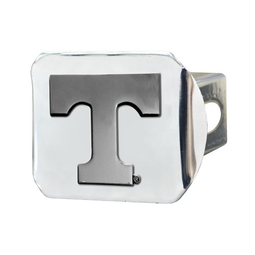 FANMATS 15061 NCAA University of Tennessee Volunteers Chrome Hitch Cover , 3.4