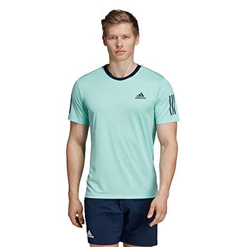 adidas Club 3str tee Camiseta de Tenis, Hombre, mencla/Maruni, L