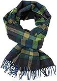 Rotfuchs Bufanda tejida bufanda de moda verde azul 100% lana (Merino)