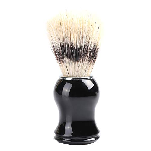 Poil de rasage brosse de rasage brosse en résine métal poignée le soin des hommes(1#)