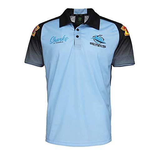 LQWW 2021 Blackshark Rugby Jersey, Shark T-Shirt Rugby Jersey Rugby Shirt Men's Training Polo,4XL
