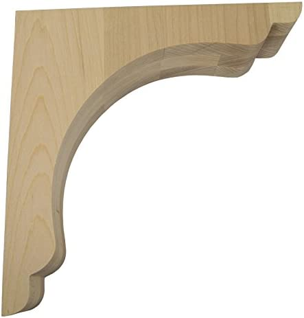 Federal Brace Scalloped Overhang Bar Bracket 10x10x3 Maple Made In America Amazon Com