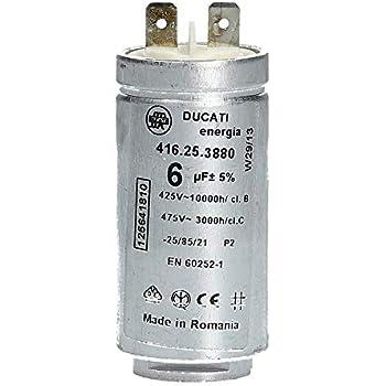 4.16.10.63.64-1st Kondensator Betrieb; 45uF; 425VAC; O45x1... fur Motoren
