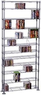 Atlantic Maxsteel 12 Tier Shelving - Heavy Gauge Steel Wire Media Shelving for 864 CDs, 450 DVDs, BluRay or Games PN631352...
