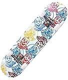 SXDYJ Skateboard Doule Kick Complete para Principiantes Niños Niños Grils Adultos Adultos, 7 Capas Concavo de Madera de Arce Canadiense Crucero cóncavo (Color : White)
