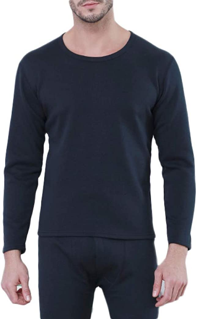 Mens Thermal Underwear with Fleece Lined Winter Warm Base Layer Ultra Soft Long John Set