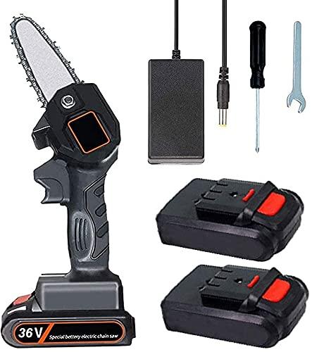 NFRMJMR Mini Kit de Motosierra inalámbrica, Sierras eléctricas de 5 Pulgadas para...