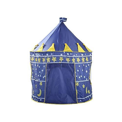 LHQ-HQ Los niños juegan Carpa Castillo Tienda del Juego de la Estrella Azul Oscuro Pop Up Play House Juguete Tienda de campaña Tipi Indio Camping Cubierta Plegable Grande Teatro de Juguetes for niñas