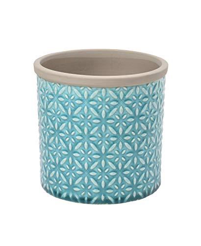 Burgon & Ball Keramik Blumentopf Tuscany D14cm türkis