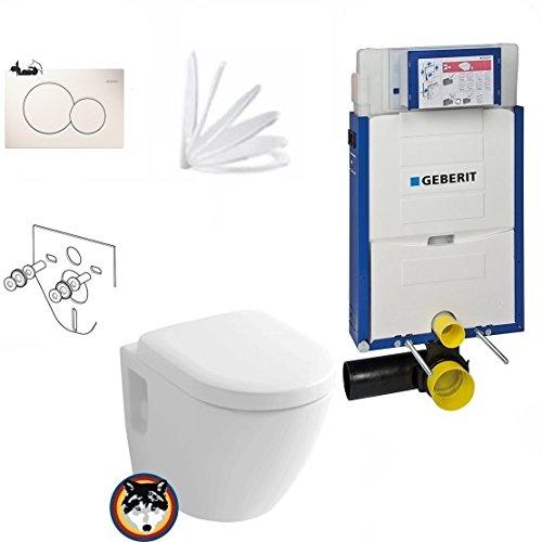 Geberit Kombifix Plus UP 320 Vorwandelement mit Sigma 01, Toto CW762Y Wand WC TORNADO FLUSH, WC Sitz Softclose