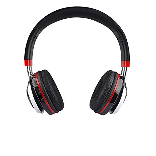 Feigner Auriculares inalámbricos plegables Bluetooth 4.1 con cancelación de ruido y radio, estéreo envolvente inalámbrico con cancelación de ruido activa, graves pesados, para escuela, viajes, trabajo